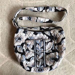 Vera Bradley Camellia Saddle Bag